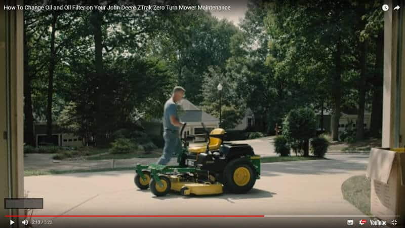 How To Change Oil and Filter on John Deere ZTrak Zero Turn Mower